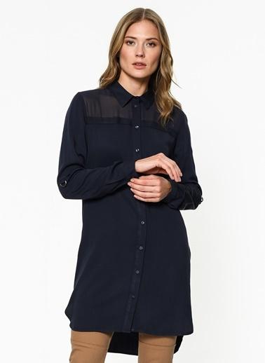 Şifon Detaylı Uzun Gömlek-Only